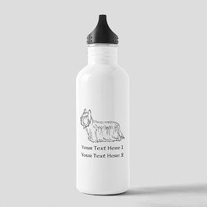Skye Terrier. Custom Text Stainless Water Bottle 1