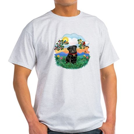 Bright Life - Black Pug #13 Light T-Shirt