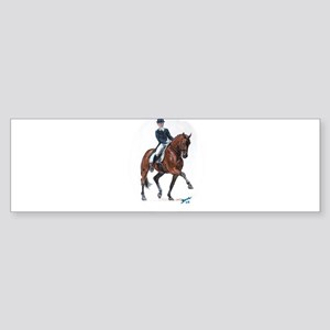 Dressage horse painting. Sticker (Bumper)