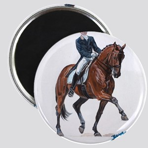 Dressage horse painting. Magnet