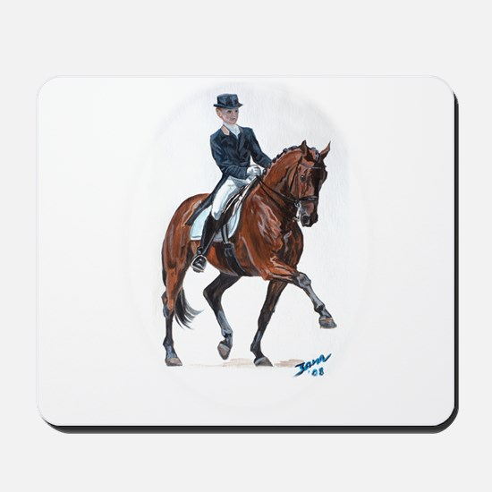 Dressage horse painting. Mousepad