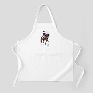 Dressage horse painting. Apron