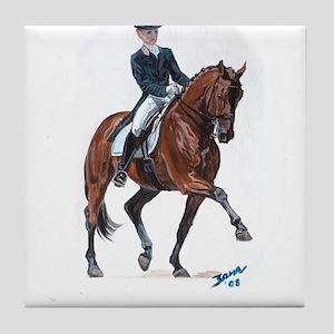 Dressage horse painting. Tile Coaster