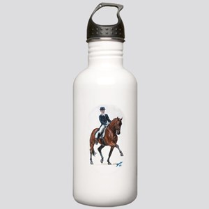 Dressage horse painting. Stainless Water Bottle 1.