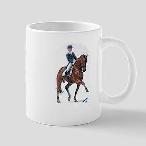 Dressage horse painting. Mug