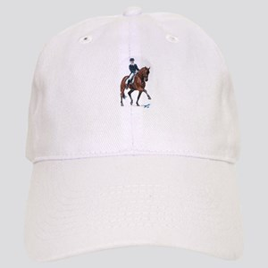 Dressage horse painting. Cap