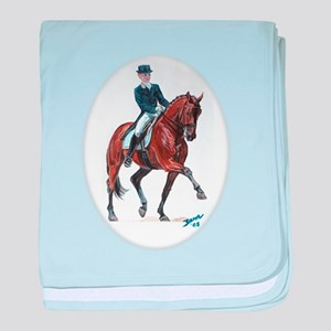 Dressage horse painting. baby blanket