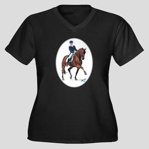 Dressage horse painting. Women's Plus Size V-Neck