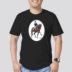 Dressage horse painting. Men's Fitted T-Shirt (dar