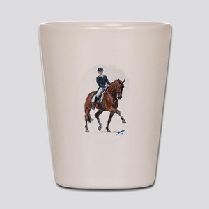 Dressage horse painting. Shot Glass