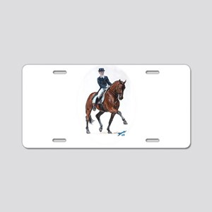 Dressage horse painting. Aluminum License Plate