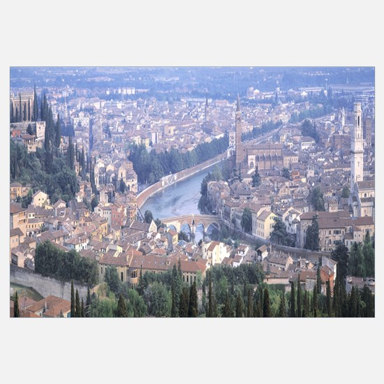 Ponte Pietra and Adige River Verona Italy