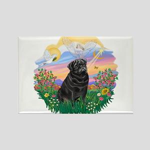 Guardian - Black Pug #25 Rectangle Magnet