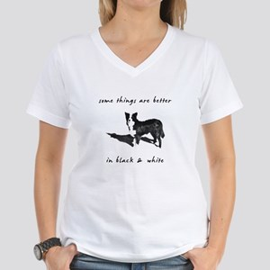 Border Collie Better Women's V-Neck T-Shirt