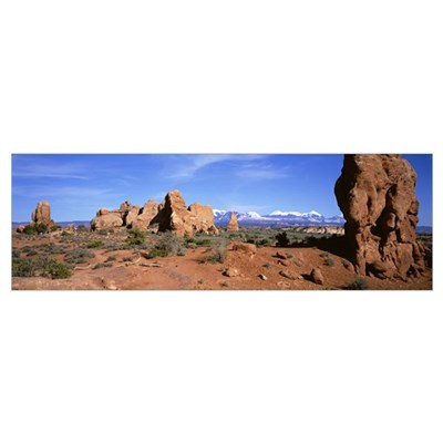 Hodoos Windows Section Arches National Park Moab U Poster