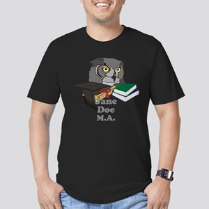 Custom Owl Graduate Men's Fitted T-Shirt (dark)