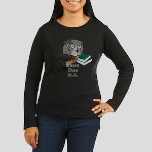 Custom Owl Graduate Women's Long Sleeve Dark T-Shi