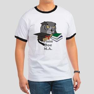Custom Owl Graduate Ringer T