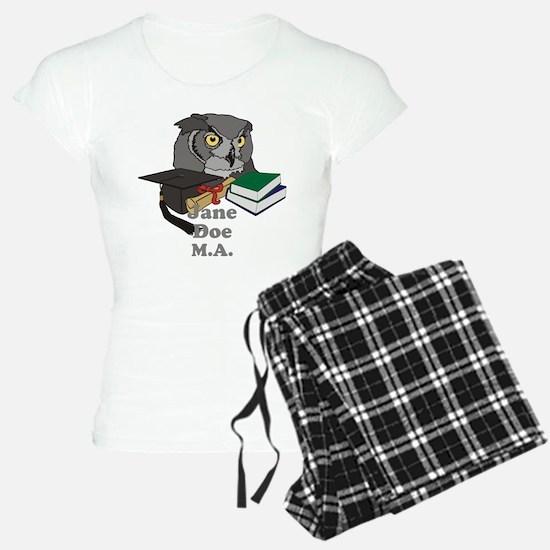 Custom Owl Graduate Pajamas