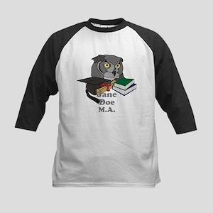 Custom Owl Graduate Kids Baseball Jersey