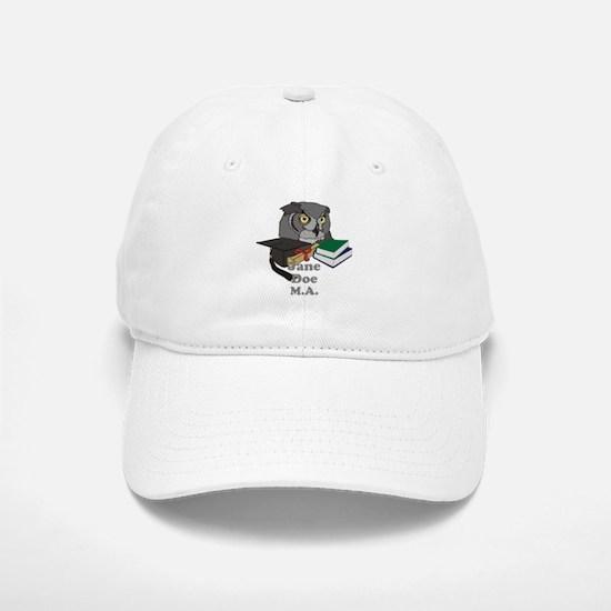 Custom Owl Graduate Baseball Baseball Cap