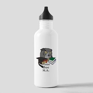 Custom Owl Graduate Stainless Water Bottle 1.0L