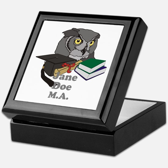 Custom Owl Graduate Keepsake Box
