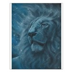 Ghostly Lion Small Poster