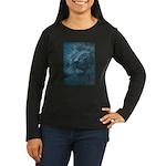 Ghostly Lion Women's Long Sleeve Dark T-Shirt