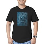 Ghostly Lion Men's Fitted T-Shirt (dark)