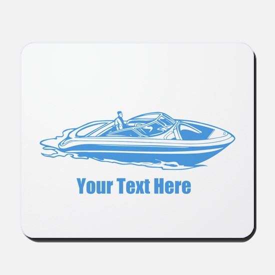 Motorboat. Add Your Text. Mousepad