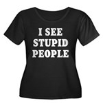 I See Stupid People Women's Plus Size Scoop Neck D
