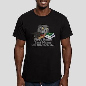 Custom Owl Medical Graduate Men's Fitted T-Shirt (
