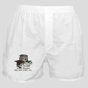 Custom Owl Medical Graduate Boxer Shorts