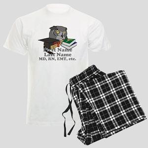 Custom Owl Medical Graduate Men's Light Pajamas