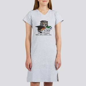 Custom Owl Medical Graduate Women's Nightshirt