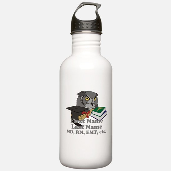 Custom Owl Medical Graduate Water Bottle