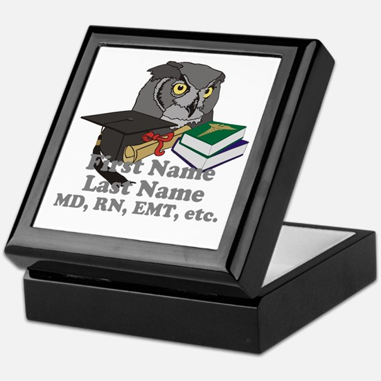 Custom Owl Medical Graduate Keepsake Box