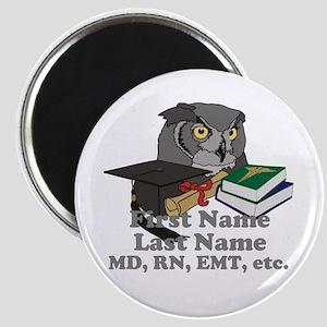 Custom Owl Medical Graduate Magnet