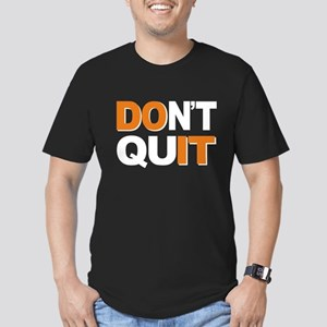 Don't Quit, Do It Men's Fitted T-Shirt (dark)