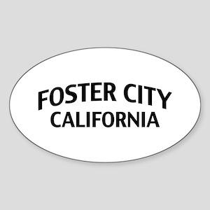 Foster City California Sticker (Oval)