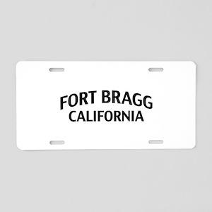 Fort Bragg California Aluminum License Plate