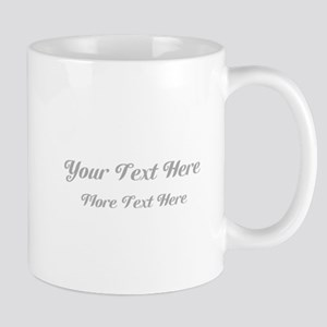 Elegant Gray Custom Text. Mug