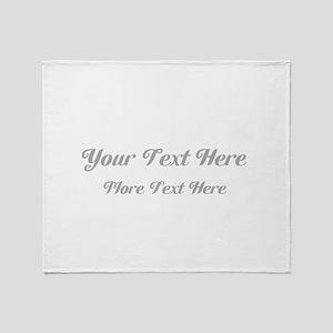 Elegant Gray Custom Text. Throw Blanket
