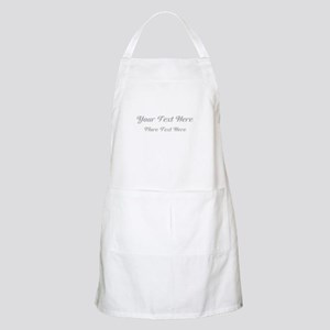 Elegant Gray Custom Text. Apron