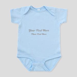 Elegant Gray Custom Text. Infant Bodysuit