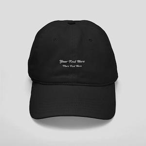 Elegant Gray Custom Text. Black Cap