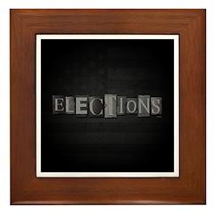 Elections Framed Tile