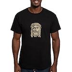 Jesus Face V1 Men's Fitted T-Shirt (dark)