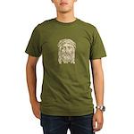 Jesus Face V1 Organic Men's T-Shirt (dark)